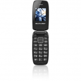 Celular Flip Up Dual Chip Mp3 Preto Multilaser - P9022 Mkp000278000209