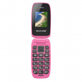 Celular Flip Up Dual Chip Mp3 Rosa Multilaser - P9023 Mkp000278000210