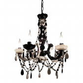 Lustre Black And White  Exclusivo Trevisan Concept 40Cm X 18Cm X 48Cm Mkp000196000453