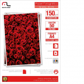 Papel Glossy C/150Grs Tam.A4 Multilaser C/50Fls