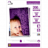 Papel Photo Glossy 200Grs Tam. A6 10X15 C/20Fls Multilaser