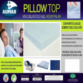 Pillow Top Hospitalar Anti Escaras Viscoelástico Nasa Gel Infusion 78 X 1,88 X 8Cm Aumar Mkp000340000014